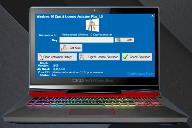 Windows 10 Digital License Activator Plus v1.0
